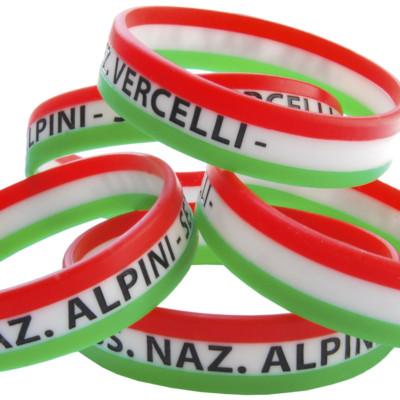 Braccialetti silicone tricolore personalizzati